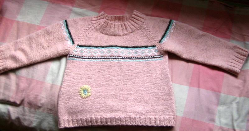 粉色毛衣,可心的最爱