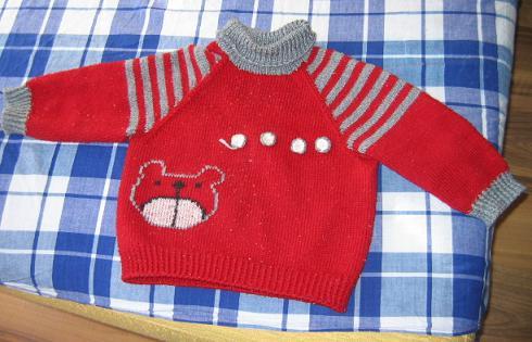 宝舅妈织的毛衣