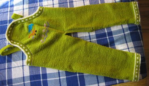 宝姨妈织的毛裤正面