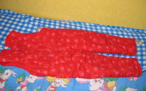 宝奶奶给宝做的护胸棉裤