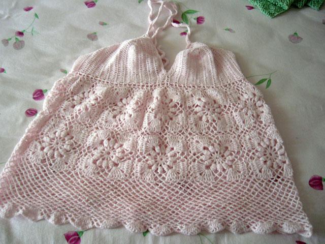 怀孕时妈妈织给我当睡衣