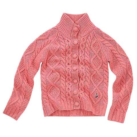 粉色编织罗纹,甜美气质百分百