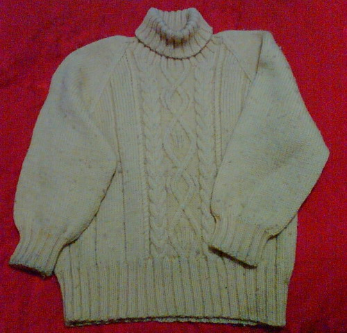 毛衣特写来了,拍的不好颜色有些失真
