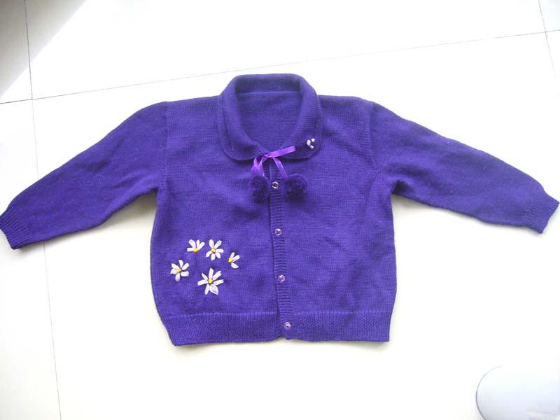 我原来发过的第一件毛衣,加丝带绣的