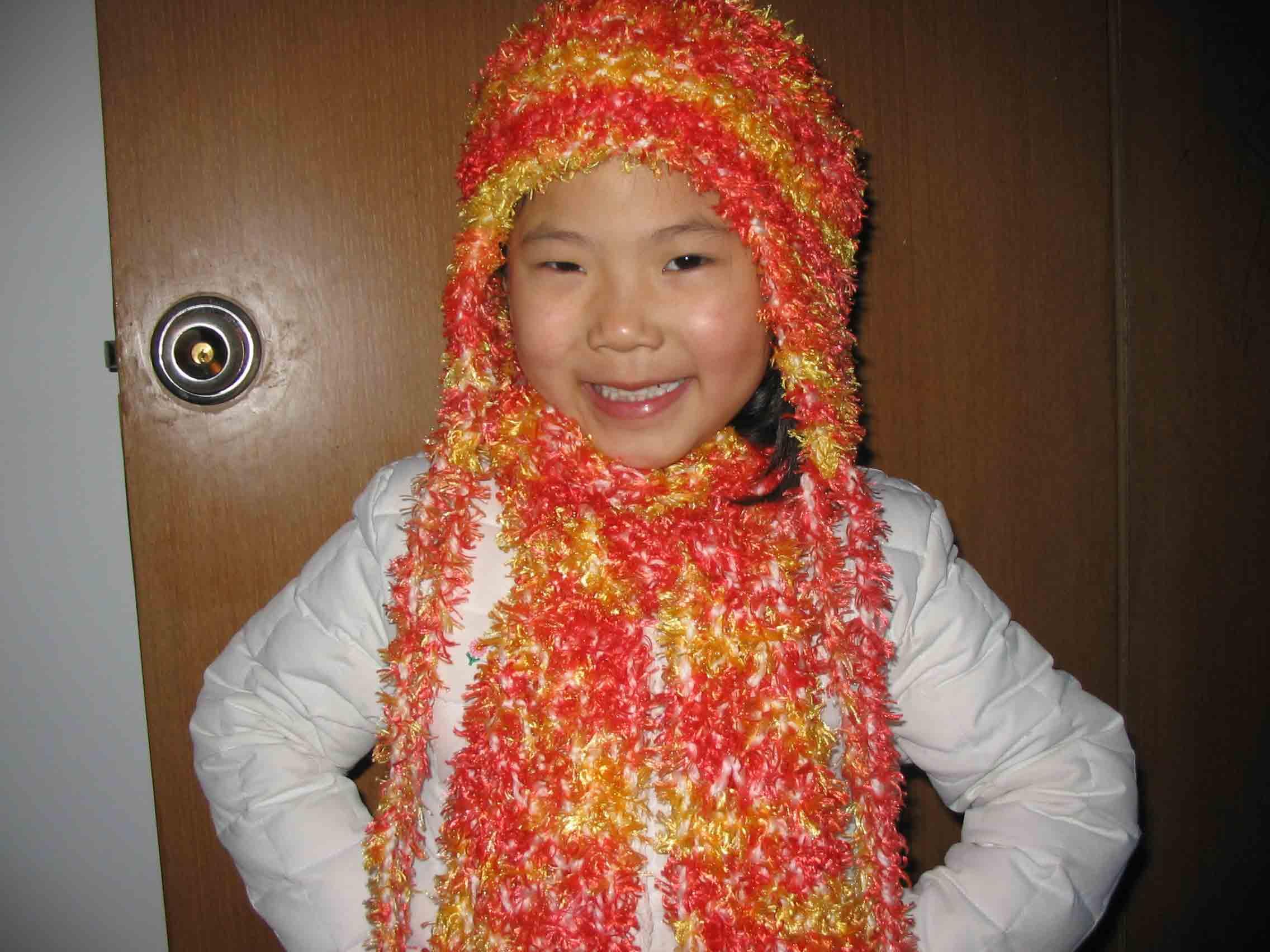 女儿的帽子、围巾真人秀
