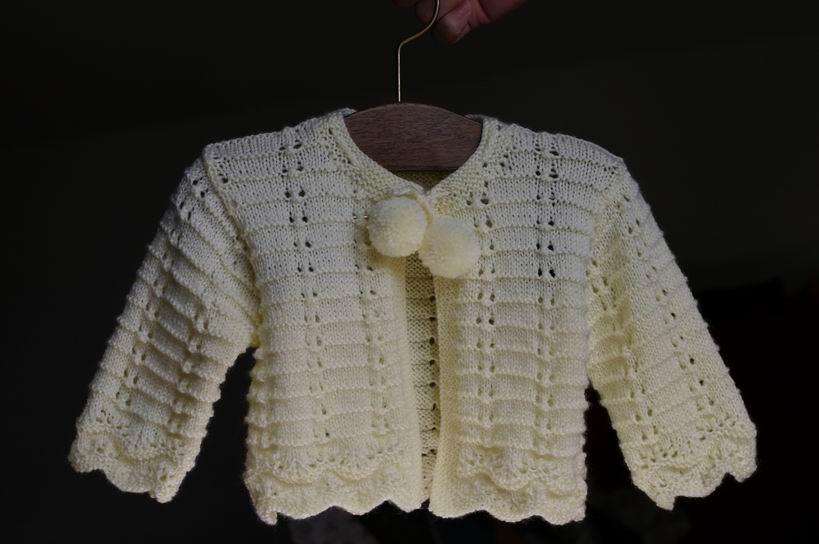 开襟小毛衣