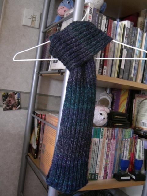 這是用日本的羊駝羊毛段染線織的,未認識論壇前買的,170元一條圍巾,太貴啊,8號針,三兩線,原以為2上2下