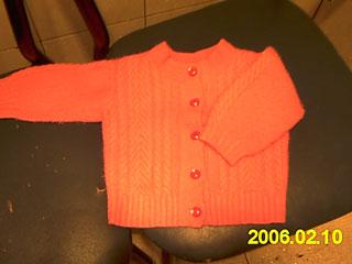 3:红色小开衫