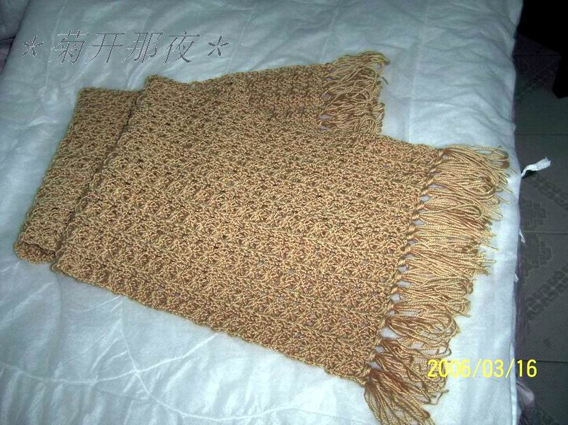 织好的围巾图2