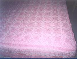 钩成的床罩