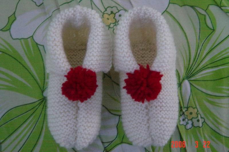 第一次织的鞋子,献丑了
