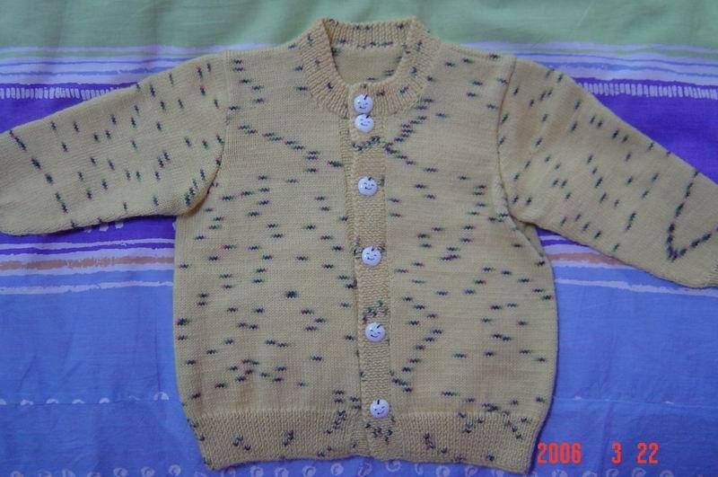 儿子的毛衣(3),我织的哦