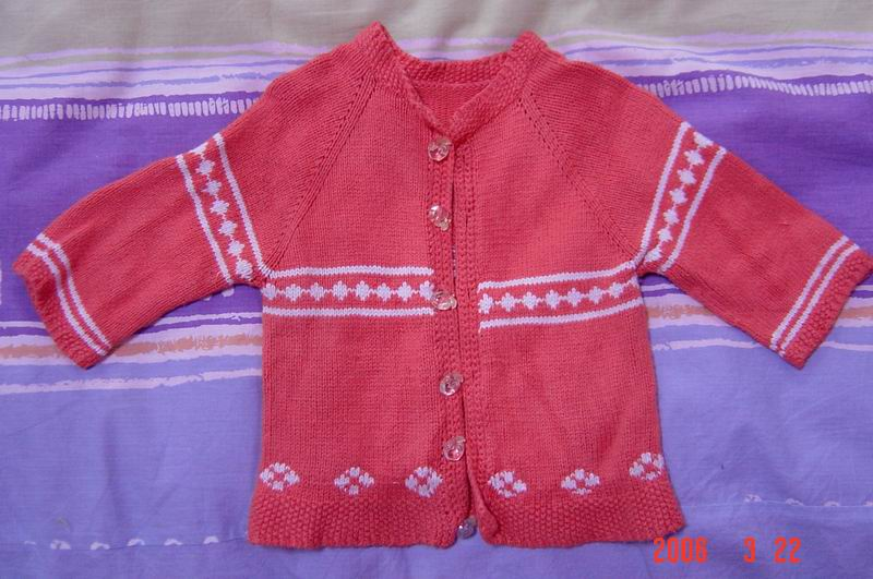 儿子的毛衣(2),我织的哦