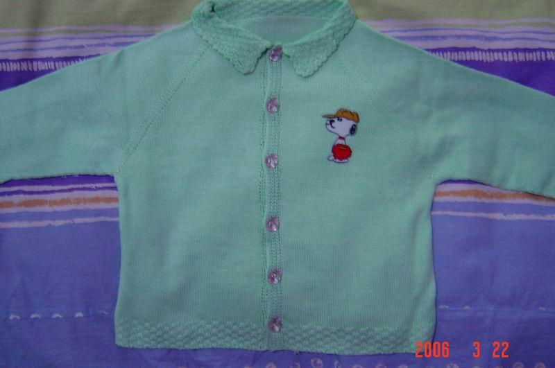儿子的毛衣(1),我织的哦