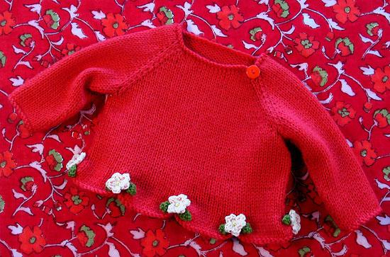 小小红毛衣!