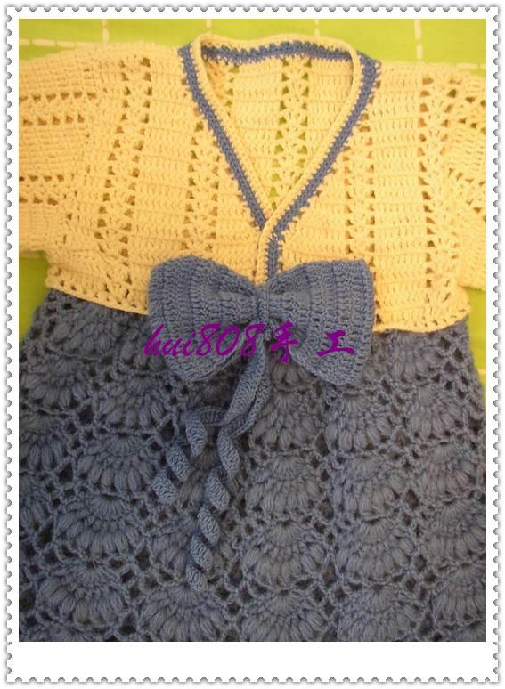 姐妹發的韓版大長今的衣服,鉤的,但我不會鉤,想請教織得有沒有辦法使下面的線卷卷的