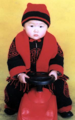可爱的宝宝的唐装_编织人生论坛