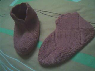 几年前织的袜套,献丑了