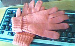 织的最满意的手套