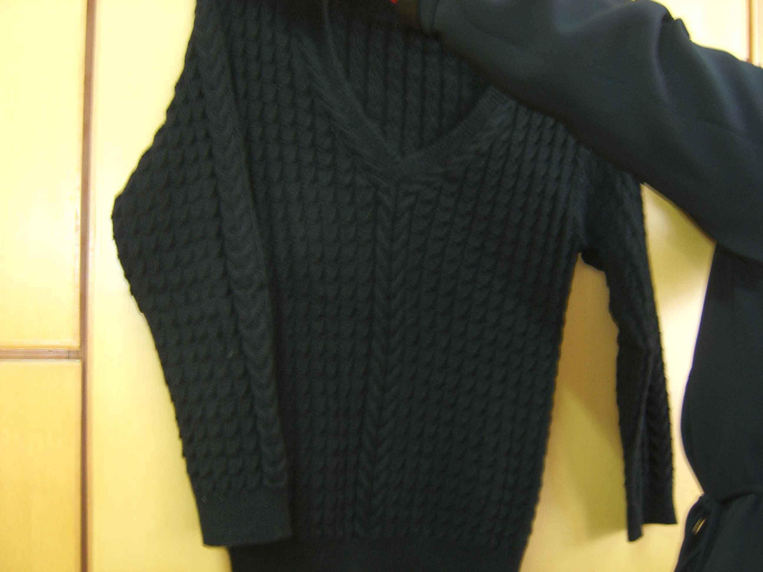 黑色绢绒衣