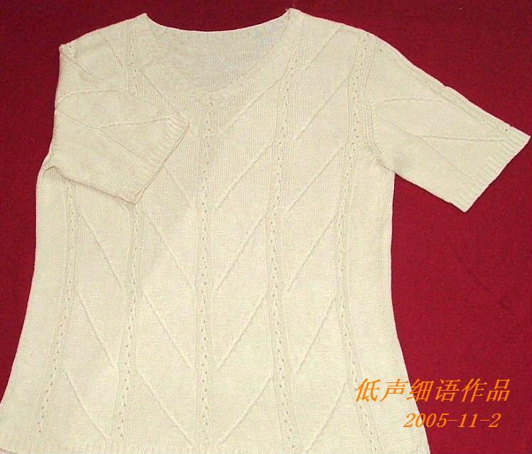 老公的丝光棉短袖衫