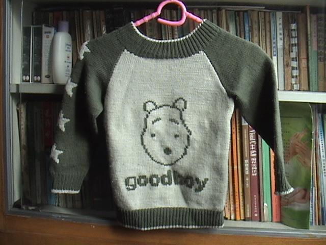 织给我儿子的前后可以换穿的毛衣A面