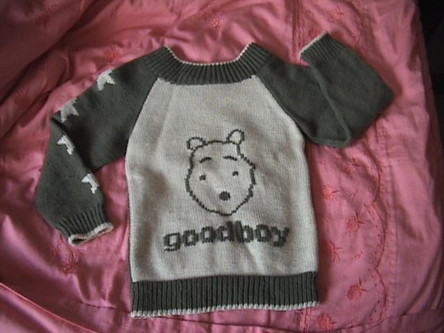 织给我儿子的前后可以换穿的毛衣A面2