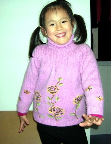 女儿的十字绣毛衣.JPG