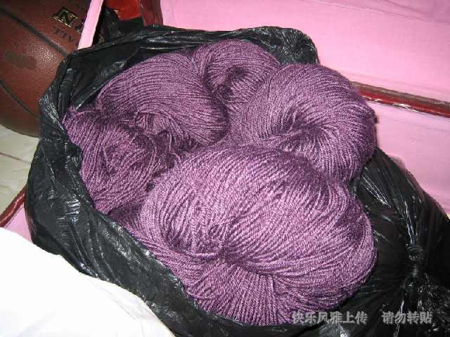 紫色晴龙线(编织靠垫、地垫之类)
