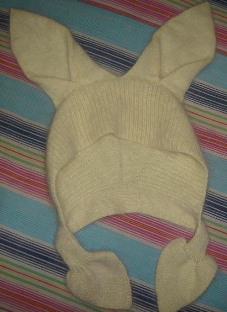 可爱的小兔帽