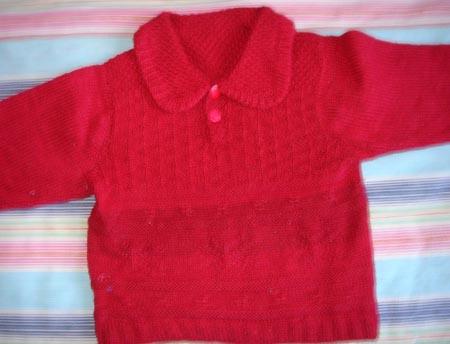 女儿的红毛衣
