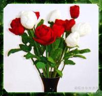毛线做的玫瑰花