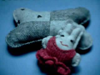 这是仿其它论坛的样子做的鼠标护腕和丑丑的小兔,一起发上来了