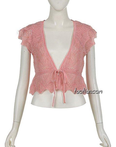 粉色漏空开衫短袖.jpg