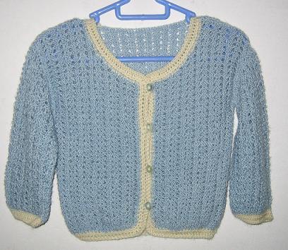 给朋友的BB织的小毛衣,第一件,差点放弃:D