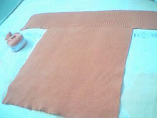 两边收100针,中间留200针往下织单罗纹针,织50公分吧,原图是织57公分的,我个不高,所以没织那么长