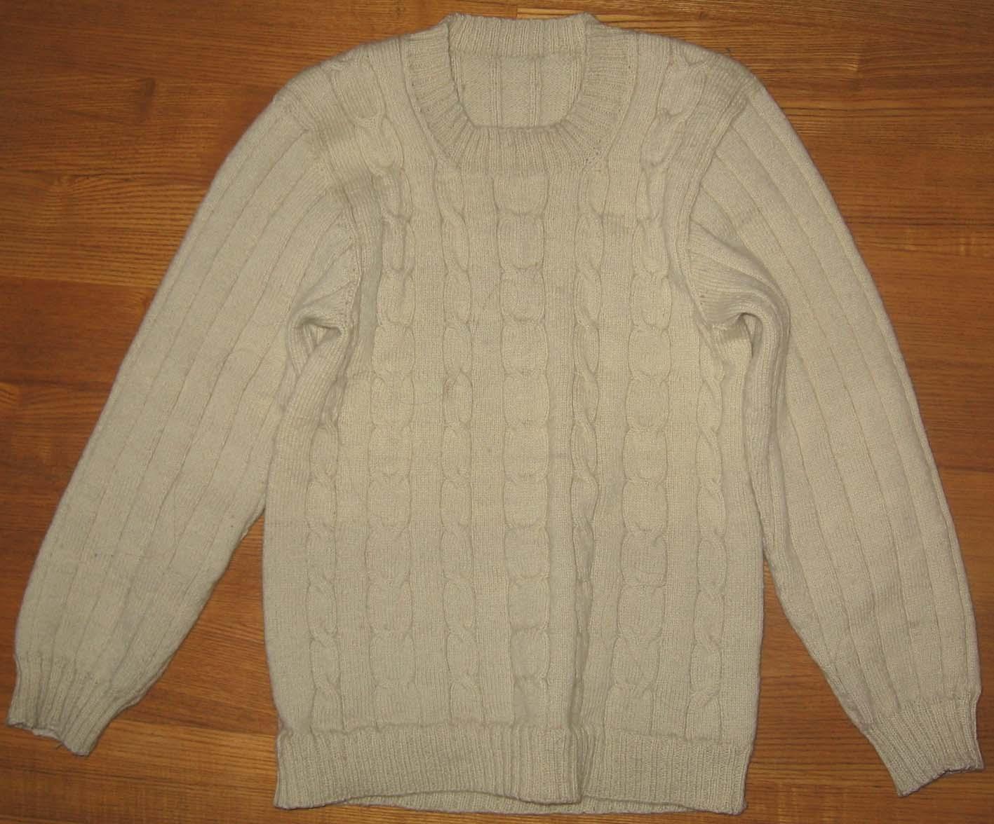 我织的白毛衣,没有熨就穿了一个冬天