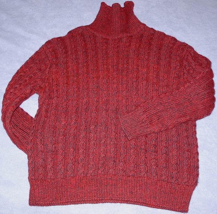 给儿子打的毛衣,松松的,冬天很暖和