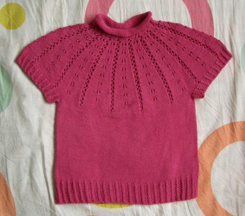 蔷薇的玫红色绢绒,仿论坛里的一件衣服织的