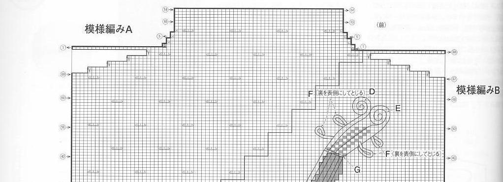 以下是编织图2的细部特征,请按图2拼接。编织图2-1
