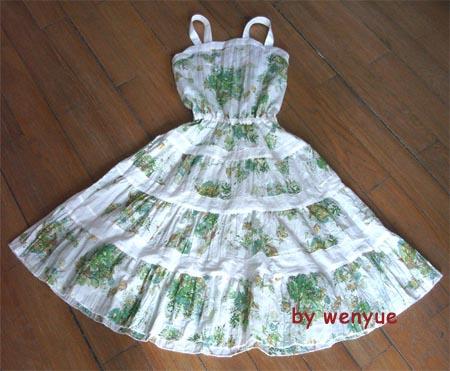 绿花塔裙完成时