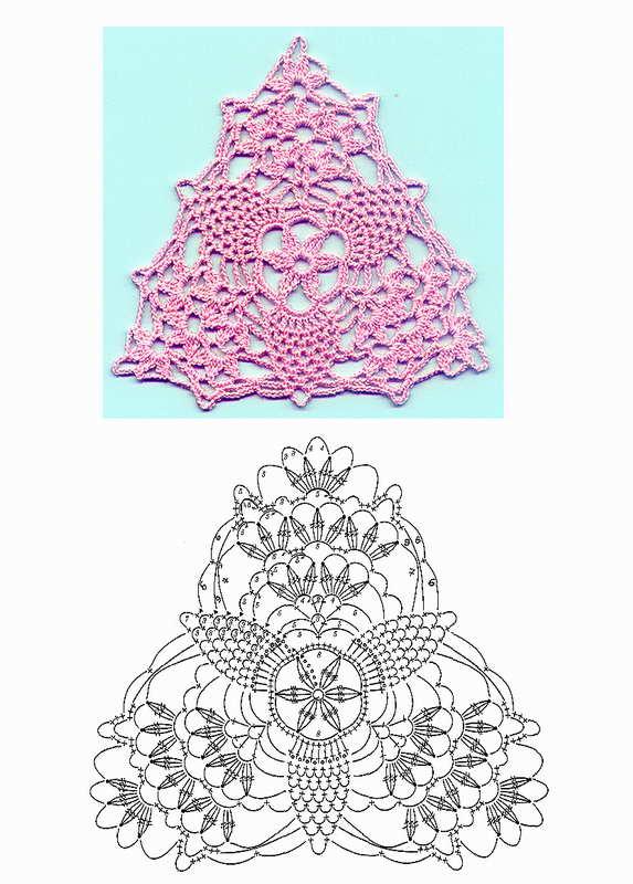 三角刺绣编织矢量图