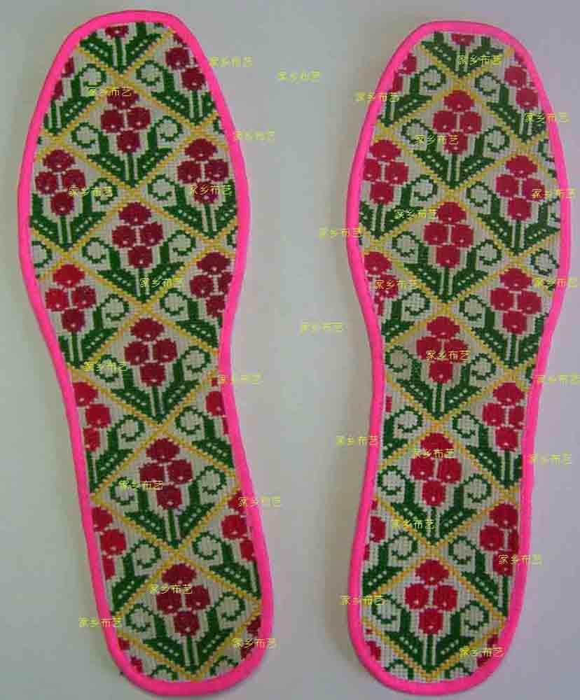 鞋垫手绘效果图