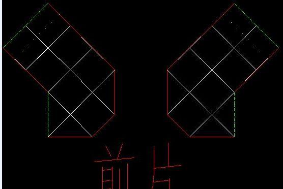 前片排列(绿色虚线处是前后片相拼)