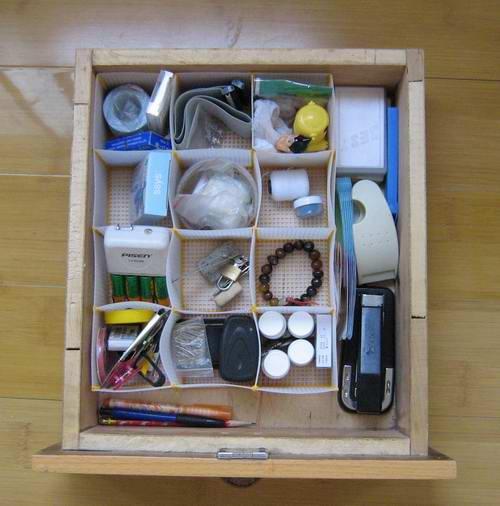 我的抽屉,用了这个收纳盒,整洁好多哦!