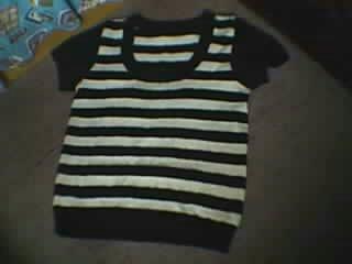 第一次织黑白相间的衣服,竟然很成功