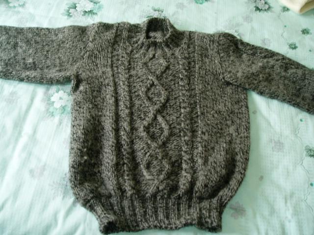 用洋洋的全毛线线给老公织的YY