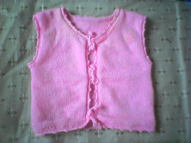这是我给儿子织的小背心简单又实用