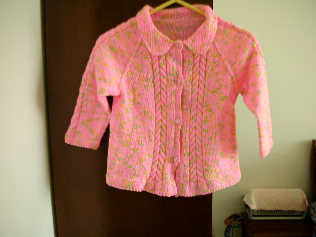 粉色小开衫