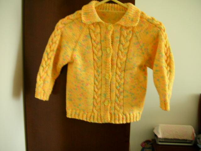 黄色小开衫